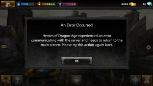 This happens a lot too. Actually it's probably a good thing, because it means you can't play any more.